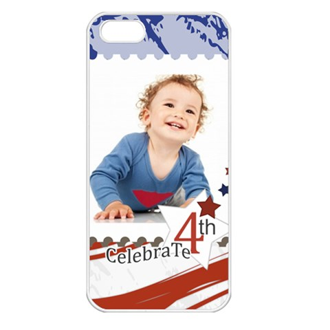 July 4 Usa By Anita   Apple Iphone 5 Seamless Case (white)   Mw78tk4296e6   Www Artscow Com Front