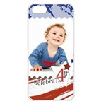 july 4 usa - Apple iPhone 5 Seamless Case (White)