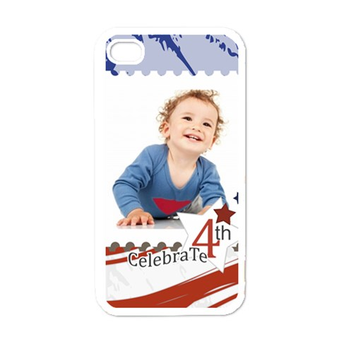 July 4 Usa By Anita   Apple Iphone 4 Case (white)   Ehp6zcjh7x1i   Www Artscow Com Front