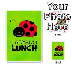Ladybug Lunch Deck 1   Shared By Jonathan Warren   Playing Cards 54 Designs   Qrvr11mzalgs   Www Artscow Com Back