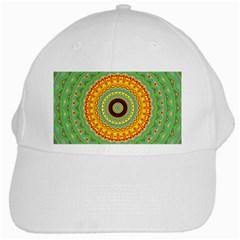 Mandala White Baseball Cap by Siebenhuehner