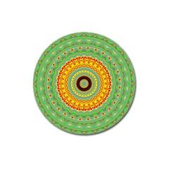 Mandala Magnet 3  (round) by Siebenhuehner