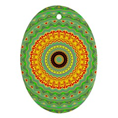 Mandala Oval Ornament (two Sides) by Siebenhuehner