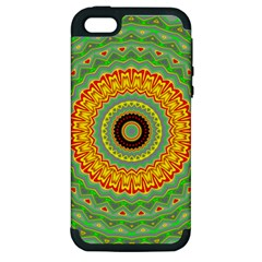 Mandala Apple Iphone 5 Hardshell Case (pc+silicone) by Siebenhuehner