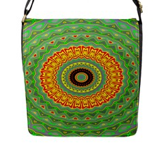 Mandala Flap Closure Messenger Bag (large) by Siebenhuehner
