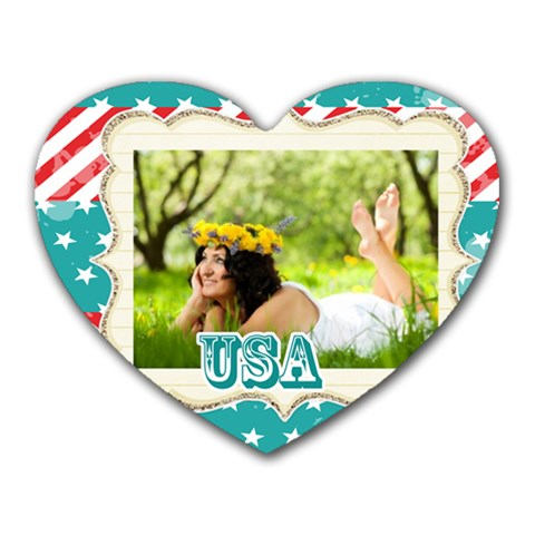 Usa By Usa   Heart Mousepad   Luc89mrf197d   Www Artscow Com Front