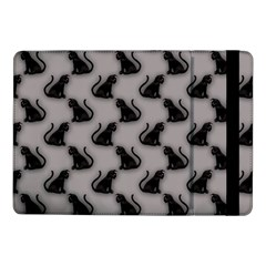 Black Cats On Gray Samsung Galaxy Tab Pro 10 1  Flip Case by bloomingvinedesign