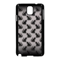 Black Cats On Gray Samsung Galaxy Note 3 Neo Hardshell Case (black) by bloomingvinedesign