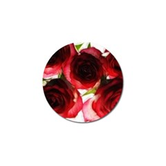 Pink And Red Roses On White Golf Ball Marker 10 Pack by bloomingvinedesign