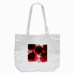 Pink And Red Roses On White Tote Bag (white) by bloomingvinedesign