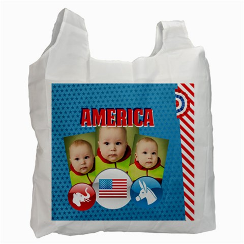 Usa By Usa   Recycle Bag (one Side)   Fueg0d0yrbc3   Www Artscow Com Front