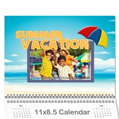 Summer By Summer Time    Wall Calendar 11  X 8 5  (12 Months)   Nia2bwn9hyfb   Www Artscow Com Cover