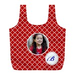Recycle Bag (L)- Quatrefoil1 - Full Print Recycle Bag (L)