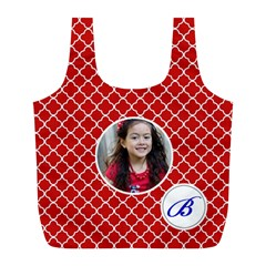 Recycle Bag (l)  Quatrefoil1 By Jennyl   Full Print Recycle Bag (l)   V80jqanuh8ni   Www Artscow Com Back