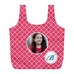 Recycle Bag (l)  Quatrefoil3 By Jennyl   Full Print Recycle Bag (l)   5pq5rrhf7uqi   Www Artscow Com Front