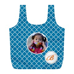 Recycle Bag (l)  Quatrefoil4 By Jennyl   Full Print Recycle Bag (l)   M2whwttwilm2   Www Artscow Com Front