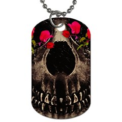 Death And Flowers Dog Tag (two Sided)  by dflcprints