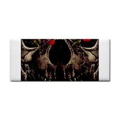 Death And Flowers Hand Towel by dflcprints