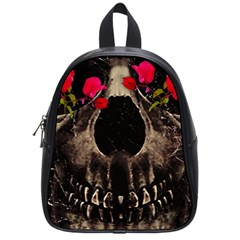 Death And Flowers School Bag (small) by dflcprints