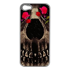 Death And Flowers Apple Iphone 5 Case (silver) by dflcprints
