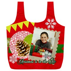 Merry Christmas Gift By Merry Christmas   Full Print Recycle Bag (xl)   Walfd4hqzvac   Www Artscow Com Back
