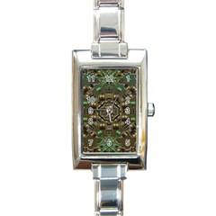 Japanese Garden Rectangular Italian Charm Watch by dflcprints