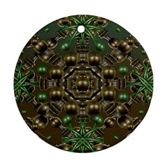 Japanese Garden Round Ornament (two Sides) by dflcprints