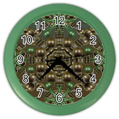Japanese Garden Wall Clock (color) by dflcprints