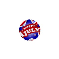 4th of July Celebration Design 1  Mini Button Magnet by dflcprints