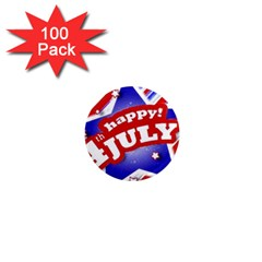 4th Of July Celebration Design 1  Mini Button Magnet (100 Pack) by dflcprints