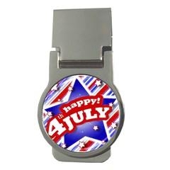 4th Of July Celebration Design Money Clip (round) by dflcprints
