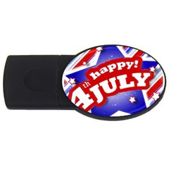 4th of July Celebration Design 2GB USB Flash Drive (Oval) by dflcprints
