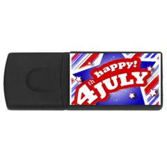 4th of July Celebration Design 1GB USB Flash Drive (Rectangle) by dflcprints