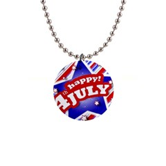 4th Of July Celebration Design Button Necklace by dflcprints