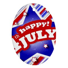 4th Of July Celebration Design Oval Ornament (two Sides) by dflcprints