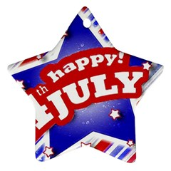 4th Of July Celebration Design Star Ornament (two Sides) by dflcprints