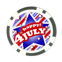 4th Of July Celebration Design Poker Chip (10 Pack) by dflcprints
