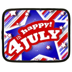 4th Of July Celebration Design Netbook Sleeve (xl) by dflcprints