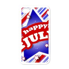 4th Of July Celebration Design Apple Iphone 4 Case (white) by dflcprints