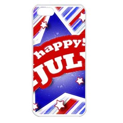 4th Of July Celebration Design Apple Iphone 5 Seamless Case (white) by dflcprints