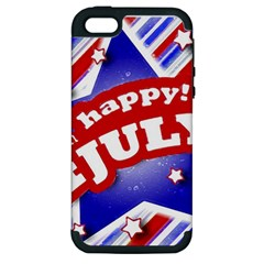 4th Of July Celebration Design Apple Iphone 5 Hardshell Case (pc+silicone) by dflcprints