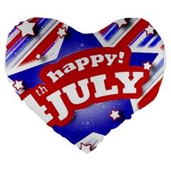 4th Of July Celebration Design 19  Premium Heart Shape Cushion by dflcprints
