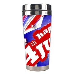 4th of July Celebration Design Stainless Steel Travel Tumbler by dflcprints
