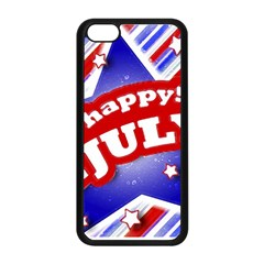 4th Of July Celebration Design Apple Iphone 5c Seamless Case (black) by dflcprints