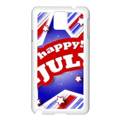 4th of July Celebration Design Samsung Galaxy Note 3 N9005 Case (White) by dflcprints