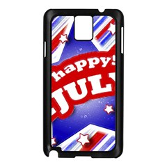 4th Of July Celebration Design Samsung Galaxy Note 3 N9005 Case (black) by dflcprints