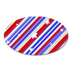 American Motif Magnet (oval) by dflcprints