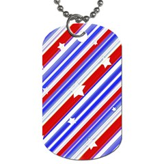 American Motif Dog Tag (one Sided) by dflcprints