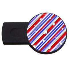 American Motif 4gb Usb Flash Drive (round) by dflcprints