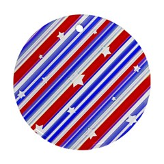 American Motif Round Ornament (two Sides) by dflcprints